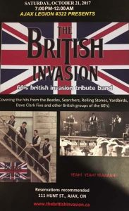 The British Invasion Tribute Band @ Ajax Legion